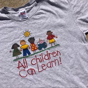 Vintage all kids can learn shirt, single stitch